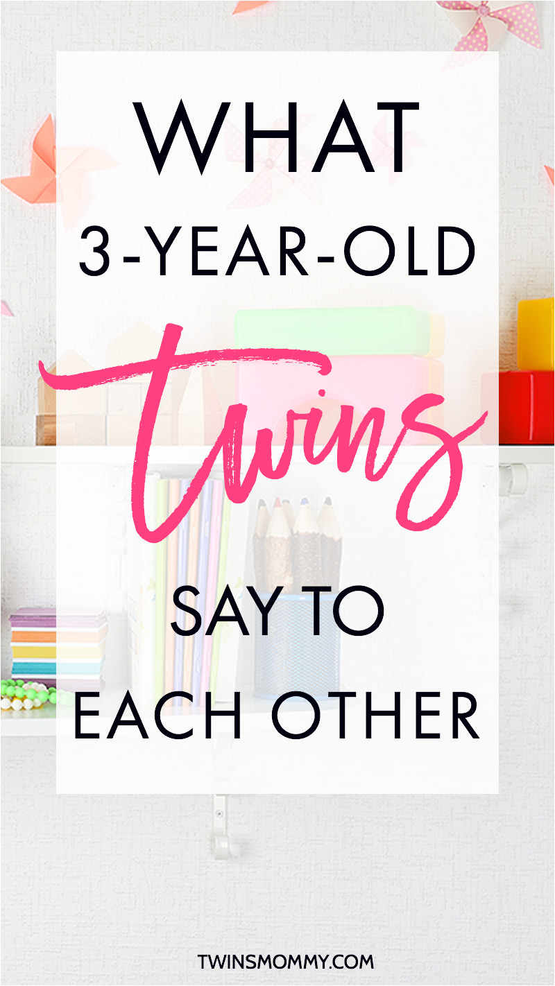 What 3-Year-Old Twins Say to Each Other