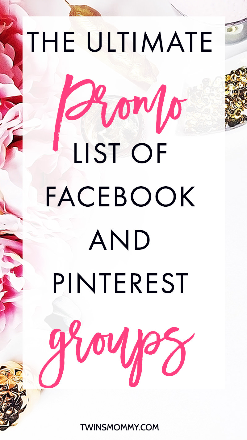 The Ultimate Promo List of Facebook and Pinterest Groups