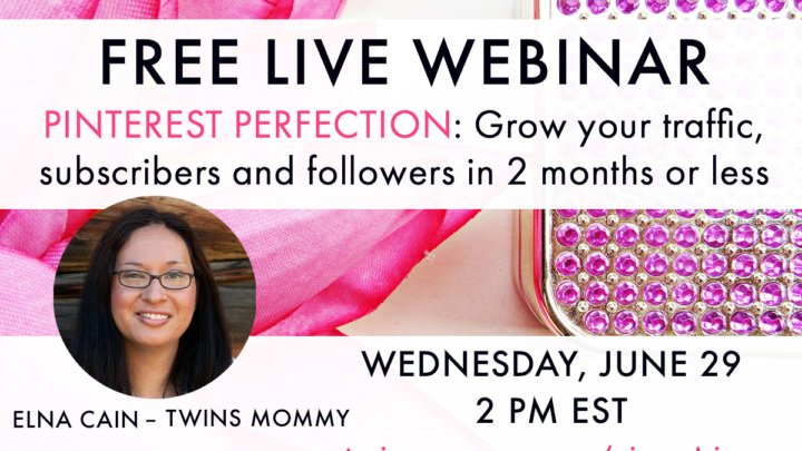 Free Webinar on Growing Your Blog With Pinterest