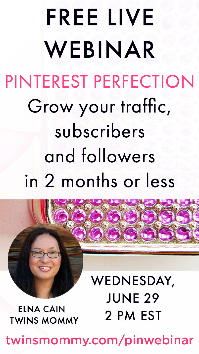 Pitch-Free Webinar June 29th on Pinterest: Grow your Traffic, Followers and Subscribers in 2 Months or Less