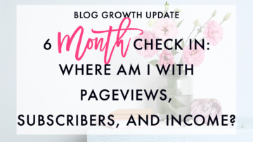 Month 6 Blog Growth Update: Checking In (Pageviews, Subscribers, and Income)