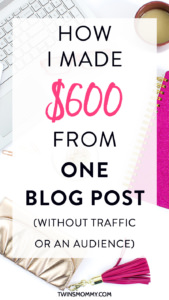 How do you make money blogging? If you're interested in learning how you can make extra cash online click here to find out.