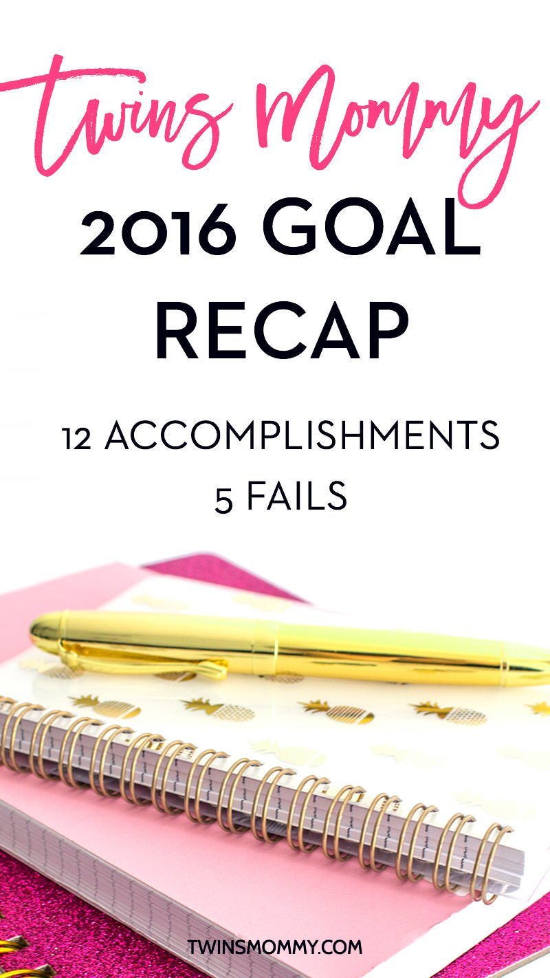 Twins Mommy 2016 Blog Goal Recap