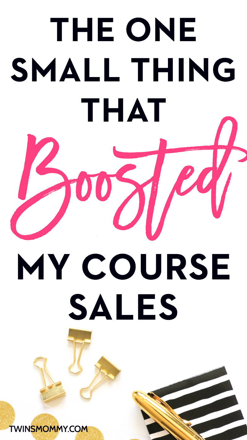 The One Small Thing That Boosted My Course Sales