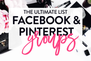 pinterest and facebook group boards list
